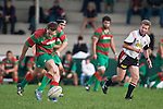 Chris Falkner kicks a penalty. Counties Manukau Premier rugby game between Waiuku & Ardmore Marist played at Waiuku on Saturday May 10th 2008..Ardmore Marist won 27 - 6 after leading 10 - 6 at halftime.