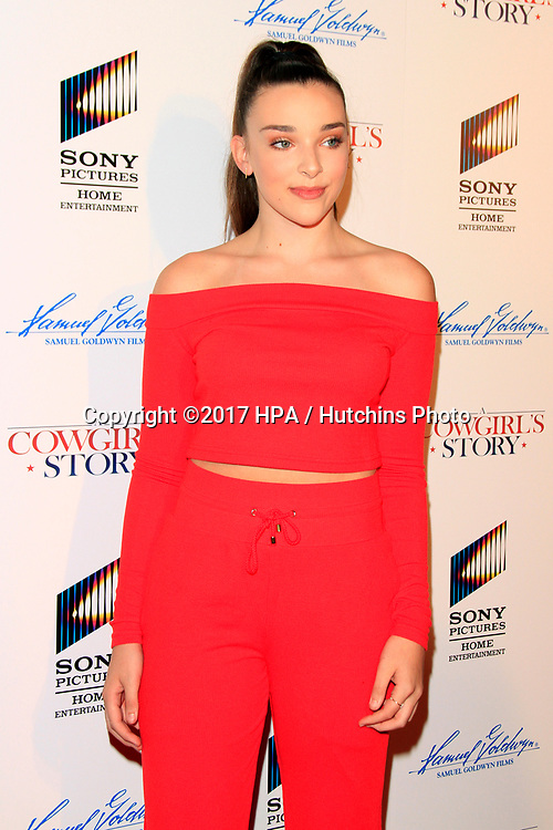 """LOS ANGELES - APR 13:  Kendall Vertes at the """"A Cowgirl's Story"""" Premiere at the Pacific Theatres at The Grove on April 13, 2017 in Los Angeles, CA"""