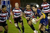 Niva Ta'auso, Kevin Farrell & Simon Lemalu. Air New Zealand Cup rugby game played at Mt Smart Stadium, Auckland, between Counties Manukau Steelers & Otago on Thursday August 21st 2008..Otago won 22 - 8 after leading 12 - 8 at halftime.