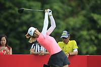 Michelle Wie (USA) in action on the 9th during Round 4 of the HSBC Womens Champions 2018 at Sentosa Golf Club on the Sunday 4th March 2018.<br /> Picture:  Thos Caffrey / www.golffile.ie<br /> <br /> All photo usage must carry mandatory copyright credit (&copy; Golffile | Thos Caffrey)