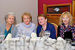 Dee Walsh, Margaret Walsh, Patsy Fenton and Bridie Hepton, from Dingle, enjoying the Senior Citizens Annual Social at the Skellig  Hotel, Dingle, on Sunday afternoon.