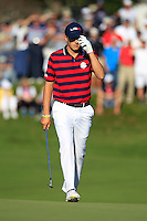 Jordan Spieth (Team USA) on the 11th fairway during Saturday afternoon Fourball at the Ryder Cup, Hazeltine National Golf Club, Chaska, Minnesota, USA.  01/10/2016<br /> Picture: Golffile | Fran Caffrey<br /> <br /> <br /> All photo usage must carry mandatory copyright credit (&copy; Golffile | Fran Caffrey)