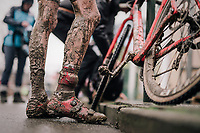 cx leg cream<br /> <br /> Junior Men's Race<br /> Belgian National CX Championschips<br /> Kruibeke 2019