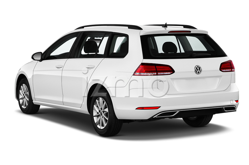Car pictures of rear three quarter view of a 2019 Volkswagen Golf SportWagen S 5 Door Wagon angular rear
