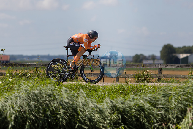 Sebastian Langeveld (NED) in action during the 2019 ITT Elite Men European Championships, 8th August 2019. Photo by Thomas van Bracht / PelotonPhotos.com | All photos usage must carry mandatory copyright credit (Peloton Photos | Thomas van Bracht)