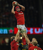 2nd December 2017, Principality Stadium, Cardiff, Wales; Autumn International Rugby Series, Wales versus South Africa; Cory Hill of Wales takes the line out ball