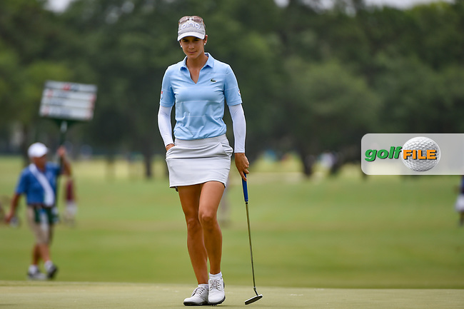 Azahara Munoz (ESP) looks over the green on 9 during round 2 of the 2019 US Women's Open, Charleston Country Club, Charleston, South Carolina,  USA. 5/31/2019.<br /> Picture: Golffile | Ken Murray<br /> <br /> All photo usage must carry mandatory copyright credit (© Golffile | Ken Murray)