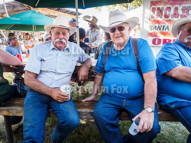 Doug Joses and Dick Cooper<br /> <br /> Saturday, Day 3 of the 79th Amador County Fair, Plymouth, Calif.<br /> <br /> Local cowboy ranch rodeo, livestock beauty pageant, youth tractor rodeo, Mutton Bustin' finals<br /> <br /> <br /> #AmadorCountyFair, #PlymouthCalifornia,<br /> #TourAmador, #VisitAmador