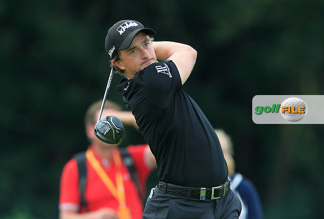 Paul Dunne (IRL) on the 5th tee during Round 4 of the 2016 KLM Open at the Dutch Golf Club at Spijk in The Netherlands on  Sunday 11/09/16.<br /> Picture: Thos Caffrey | Golffile