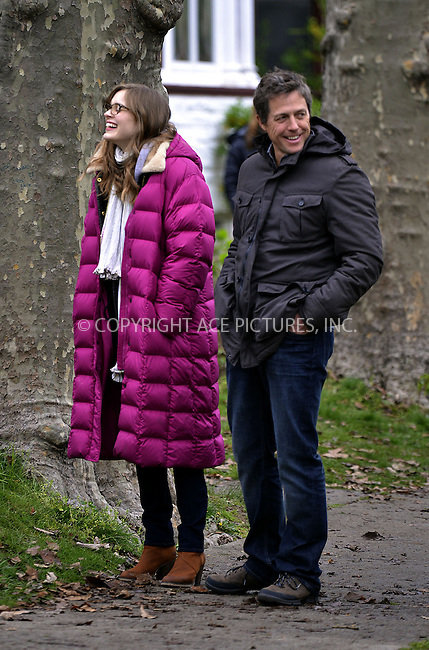 WWW.ACEPIXS.COM....April 29 2013, New York City....Actors Bella Heathcote and Hugh Grant were on the set of the 'Untitled Marc Lawrence project' movie on April 29 2013 in New York City........By Line: Curtis Means/ACE Pictures......ACE Pictures, Inc...tel: 646 769 0430..Email: info@acepixs.com..www.acepixs.com