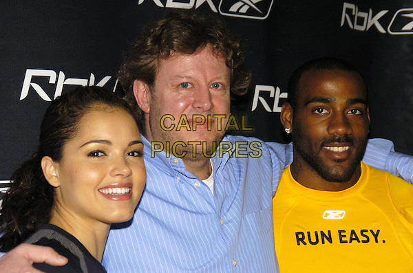 "SUSIE CASTILLO, ULI BECKER & DeANGELO HALL.Reebok unvailing of their ""Run Easy"" campaign at the Reebok Sports Club, New York, New York, USA..April 4th, 2007.headshot portrait.CAP/ADM/BL.©Bill Lyons/AdMedia/Capital Pictures *** Local Caption ***"