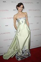 "Keira Knightley attends the "" Anna Karenina "" Movie Premiere - Los Angeles"