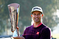 Adam Scott (AUS) poses with the trophy after the final round of the The Genesis Invitational, Riviera Country Club, Pacific Palisades, Los Angeles, USA. 16/02/2020<br /> Picture: Golffile | Phil Inglis<br /> <br /> <br /> All photo usage must carry mandatory copyright credit (© Golffile | Phil Inglis)