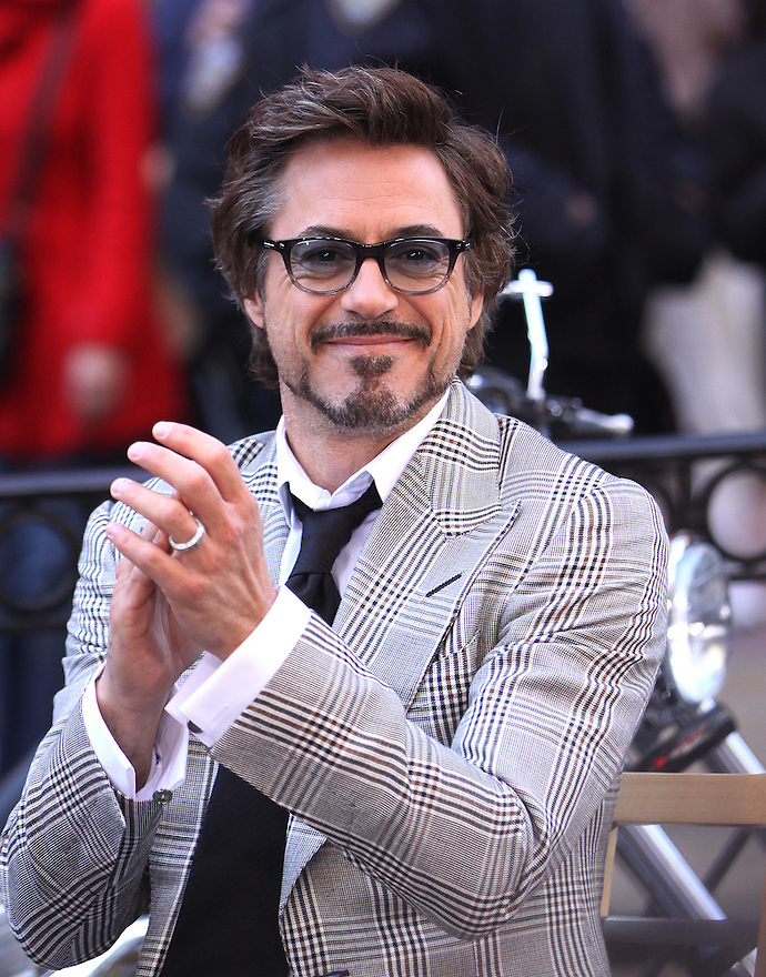 Robert Downey Jr. visit GMA in Times Square in Manhattan in New York, Thursday, April 29, 2010. (AP Photo/Donald Traill)