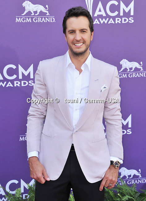 Luke Bryan 235 at the Country Music Awards 2013 at the MGM Grand Arena in Las Vegas.
