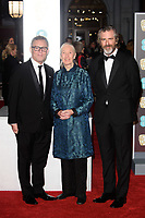 Jane Goodall arriving for the BAFTA Film Awards 2018 at the Royal Albert Hall, London, UK. <br /> 18 February  2018<br /> Picture: Steve Vas/Featureflash/SilverHub 0208 004 5359 sales@silverhubmedia.com