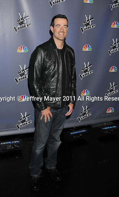 "LOS ANGELES, CA - MARCH 15: Carson Daly attends NBC's ""The Voice"" Press Conference at L.A. Center Studios on March 15, 2011 in Los Angeles, California."