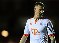 Blackpool's Scott Quigley<br /> <br /> Photographer Alex Dodd/CameraSport<br /> <br /> EFL Checkatrade Trophy - Northern Section Group B - Accrington Stanley v Blackpool - Tuesday 3rd October 2017 - Crown Ground - Accrington<br />  <br /> World Copyright &copy; 2018 CameraSport. All rights reserved. 43 Linden Ave. Countesthorpe. Leicester. England. LE8 5PG - Tel: +44 (0) 116 277 4147 - admin@camerasport.com - www.camerasport.com