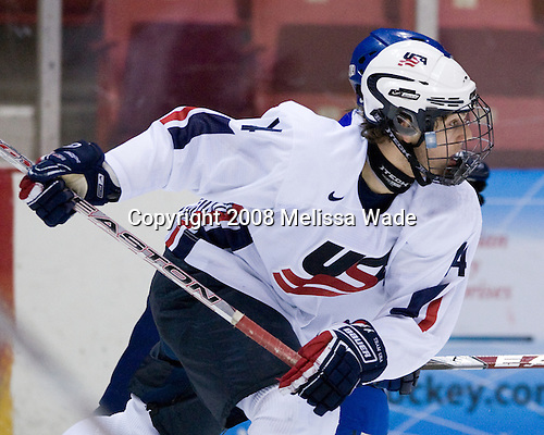 Kevin Lynch (US - 14) - Team USA defeated Team Finland 3-2 to win the Four Nations Cup (Under-18 boys) on Saturday, November 9, 2008 in the 1980 Rink in Lake Placid, New York.