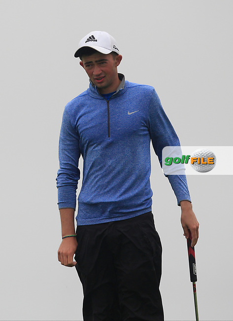 Michael Joseph Kennelly (Galway Bay) on the 17th green during the Connacht Semi-Final of the AIG Barton Shield at Galway Bay Golf Club, Galway, Co Galway. 11/08/2017<br /> Picture: Golffile | Thos Caffrey<br /> <br /> <br /> All photo usage must carry mandatory copyright credit     (&copy; Golffile | Thos Caffrey)