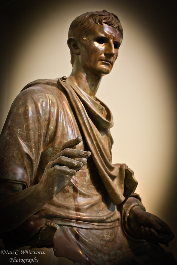Statue of Augustus at a museum in Athens