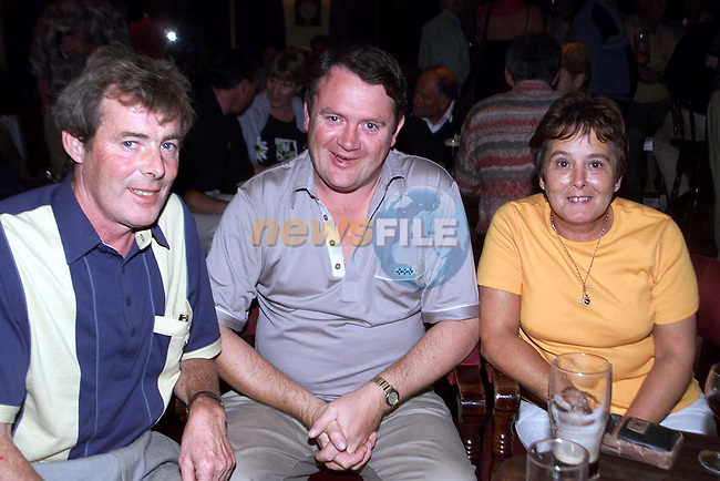Louis Taaffe, Padraig McKenny and Bernadette Taaffe at the Ardee Golf Club Captains Day Prizegiving..Picture Paul Mohan Newsfile