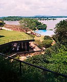 SRI LANKA, Asia, high angle view of Kandalama Hotel by the Kandalama Lake