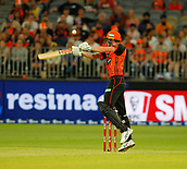 3rd February 2019, Optus Stadium, Perth, Australia; Australian Big Bash Cricket League, Perth Scorchers versus Melbourne Stars; Ashton Turner of the Perth Scorchers plays over the slips during his innings