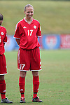 Brittany Timko, of Canada, on Sunday June 26th, 2005, during an international friendly soccer match at Virginia Beach Sportsplex in Virginia Beach, Virginia. The United States won the game 2-0.