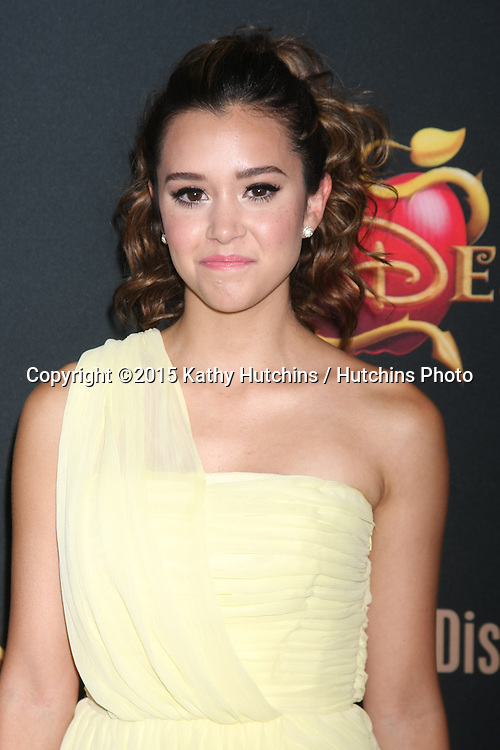 "LOS ANGELES - JUL 24:  Megan Nicole at the ""Descendants"" Premiere Screening at the Walt Disney Studios on July 24, 2015 in Burbank, CA"