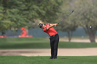 Jeunghun Wang (KOR) on the 3rd fairway during Round 1 of the Omega Dubai Desert Classic, Emirates Golf Club, Dubai,  United Arab Emirates. 24/01/2019<br /> Picture: Golffile | Thos Caffrey<br /> <br /> <br /> All photo usage must carry mandatory copyright credit (&copy; Golffile | Thos Caffrey)