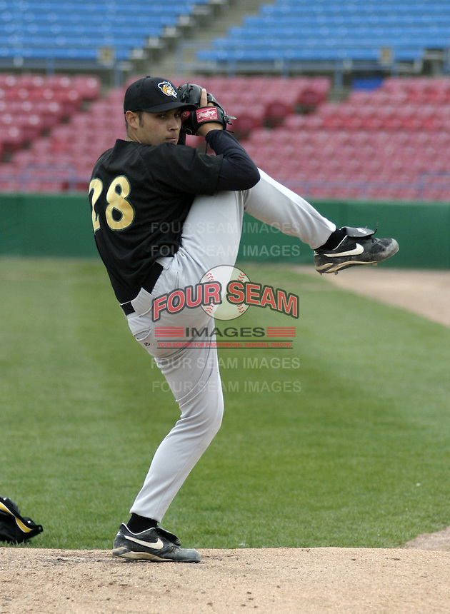 April 22, 2004:  Pitcher Matt Chico (28) of the South Bend Silver Hawks, Class-A Midwest League affiliate of the Arizona Diamondbacks, during a game at Fifth Third Ballpark in Comstock Park, MI.  Photo by:  Mike Janes/Four Seam Images
