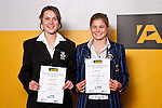 Girls Football finalists Nadia Pearl & Rosie White. ASB College Sport Auckland Secondary School Young Sports Person of the Year Awards held at Eden Park on Thursday 12th of September 2009.