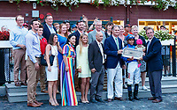 Lady Montdore (no. 8) wins the Saranac Stakes (Grade 2), Sep. 1, 2018 at the Saratoga Race Course, Saratoga Springs, NY.  Ridden by Manuel Franco, and trained by Thomas Albertrani, Lady Montdore finished 2 1/4 lengths in front of Santa Monica (No. 5).  (Bruce Dudek/Eclipse Sportswire)
