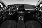 Stock photo of straight dashboard view of 2017 Mazda Mazda3 Sport 4 Door Sedan Dashboard