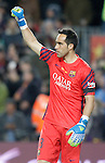 FC Barcelona's Claudio Bravo celebrates goal during La Liga match. April 2,2016. (ALTERPHOTOS/Acero)