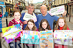 Johnny McGuire right and Richard Clancy launching Seachtain Na Gaeilge which will take place in Killarney on the 1st-17th March with the winners of the national school arts competition in Killarney on Saturday l-r:  Rachela Matykieiwia Holy Cross Mercy, Aoife Ní Bhriáin Gaelscoil Faithleann, Erin Doheny Holy Cross Mercy and Ciara Moynihan St Olivers NS