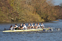025 .ORO-Bent .IM2.8+ .Oriel College BC. Wallingford Head of the River. Sunday 27 November 2011. 4250 metres upstream on the Thames from Moulsford railway bridge to Oxford Universitiy's Fleming Boathouse in Wallingford. Event run by Wallingford Rowing Club..