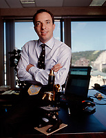 File Photo Montreal (QC) CANADA<br /> Mitch Garber seen here when he was CEO of SUREFIRE (which became FireOne). Mr Garber, who lives in Canada, will have to move to Gilbraltar and it is understood Party Gaming will pay his relocation costs.<br /> <br /> The company may also buy out any remaining share options he has in Fire One.<br /> <br /> Mr Garber is likely to add weight to Party Gaming's acquisition strategy as Mr Garber has experience in mergers and acquisitions.<br /> <br /> He oversaw the merger of payments companies Terra Payments and Canadian-based Optimal Group in 2002.<br /> <br /> Mr Garber, who went to McGill University in Canada, is a qualified lawyer and for nine years worked for Lazarus, Charbonneau, a Canadian law firm.<br /> <br /> He has worked with casinos and advised governments on regulating betting and gaming companies. <br /> <br /> Online poker company Party Gaming is set to replace outgoing chief executive Richard Segal with Mitch Garber, former executive chairman of Aim-listed online payment firm Fire One.<br /> Photo : Yves Provencher / Images Distribution<br /> (c) Pierre Roussel
