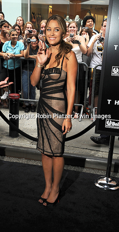 """Lauren Conrad in Dolce and Gabbana dress..posing at The World Premiere of """"The Dark Knight""""  on July 14, 2008 at The AMC Loews Lincoln Square in New York City.  The premiere was sponsered by VISA and Belstaff.....Robin Platzer, Twin Images"""