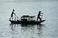 Boot bei Vinh Long im Mekongdelta, Vietnam