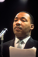 Circa 1967, New York, NY. A press conference of Martin Luther King Jr.
