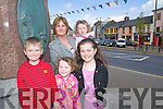 Keith, Aoife, Noreen, Eimear and Amy Cullinane Pictured at the Fleadh by the feale at the Square, Abbeyfeale on Sunday.