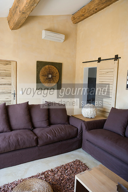 """Europe/France/Provence-Alpes-Cote d'Azur/Vaucluse/Bonnieux: les chambres de la maison d'Hote """"La Bastide de Capelongue"""""""