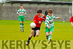 Gearoid Fitzgerald Park FC U16 in action against  Pike Rovers at the Christy Leahy Park, Tralee, on Saturday last