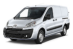 2013 Toyota Proace Comfort 5 Door Cargo Van Angular Front stock photos of front three quarter view