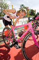 26 JUL 2008 - TREDEGAR, UK - Rosie Clarke - British Elite Triathlon Championships. (PHOTO (C) NIGEL FARROW)