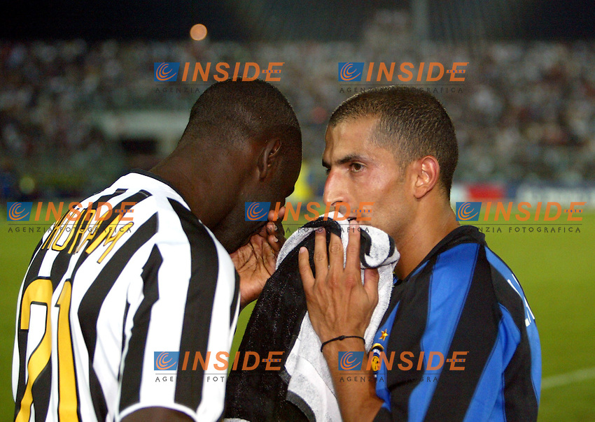 Ancona 12/08/2003<br /> Trofeo Tim - Tim Cup <br /> Liliam Thuram Juventus and Sabri Lamouchi (Inter)