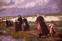 Europe/France/Bretagne/29/Finistère/Quimper : Musée des Beaux Arts, peinture réalisée pour l'hôtel de l'Epée par Jean-Julien Lemordant en 1905-1907