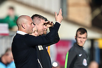 Adam Murray (Manager) of Mansfield Town during the Sky Bet League 2 match between Wycombe Wanderers and Mansfield Town at Adams Park, High Wycombe, England on 25 March 2016. Photo by David Horn.